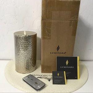 Luminara Plameless Pillar Lt. Metallic Gold NWD